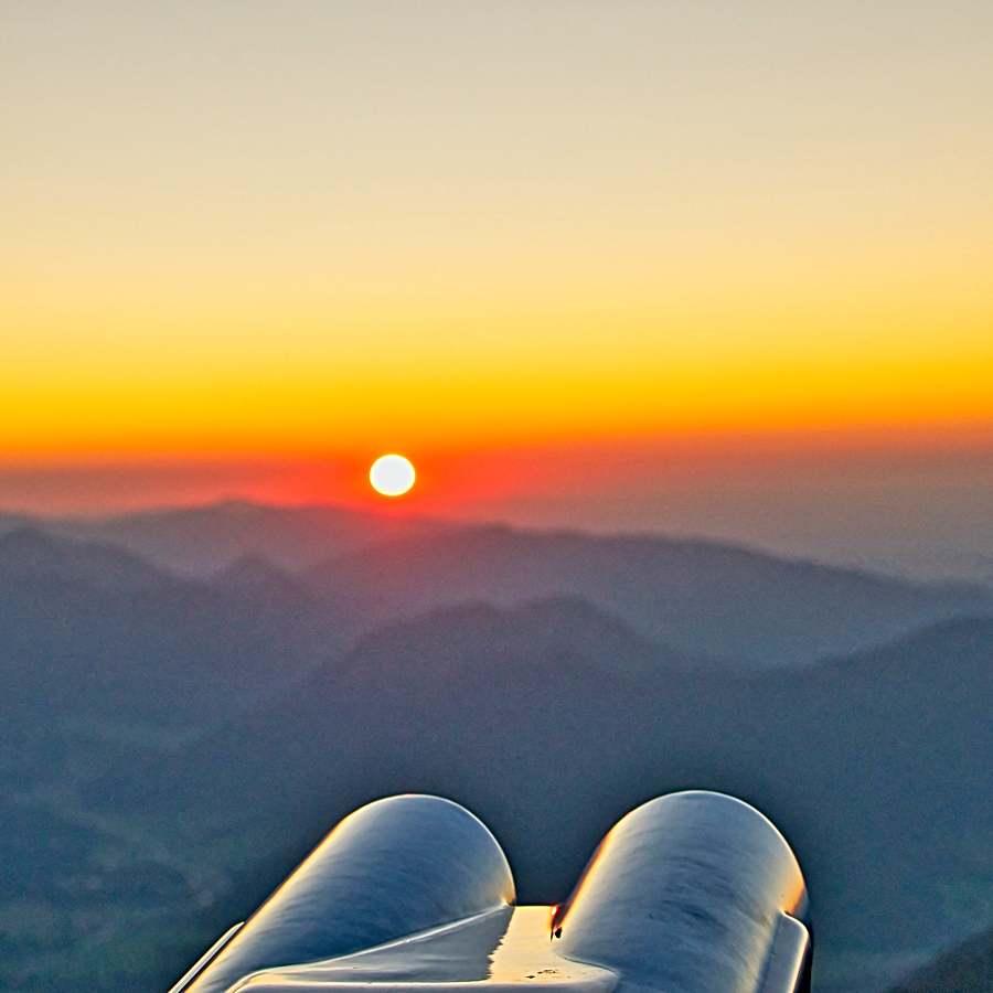 Sonnenuntergang auf dem Wendelstein