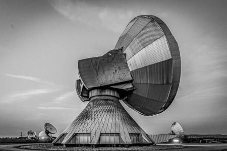 Satellitenschüsseln in Raisting