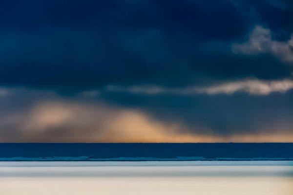 drohender Himmel über der Nordsee